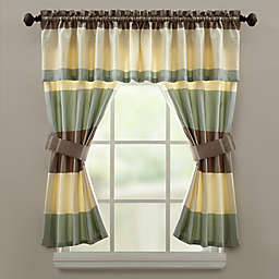 Croscill® Fairfax 45-Inch Rod Pocket Kitchen Window Curtain Panel Tier Pair in Taupe