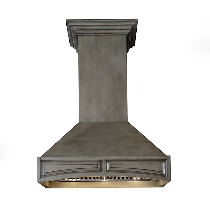 Alternate image 1 for ZLINE Designer Series 321GG 32-Inch Wooden Wall Range Hood in Weathered Grey