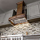 Alternate image 7 for ZLINE Designer Series 321RR Wooden Wall Range Hood with Brown Molding
