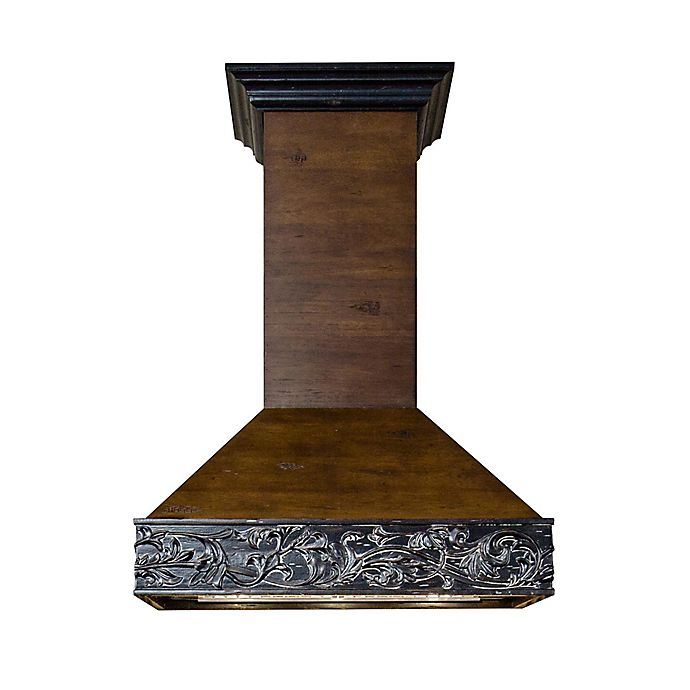 Alternate image 1 for ZLINE Designer Series 373AR 36-Inch Wooden Wall Range Hood