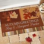 Happy Autumn 18-Inch x 27-Inch Door Mat