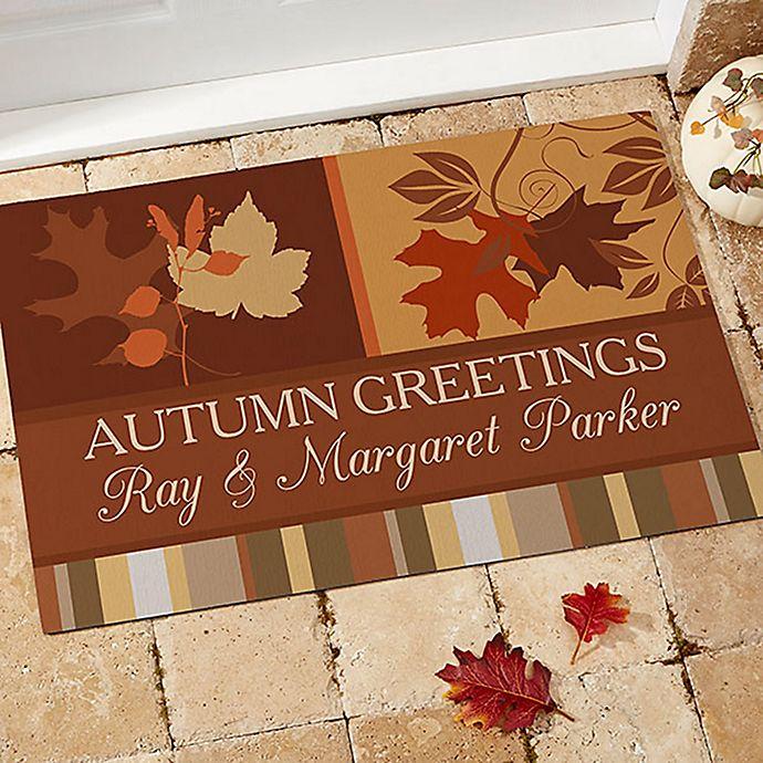 Happy Autumn Door Mat Bed Bath Amp Beyond