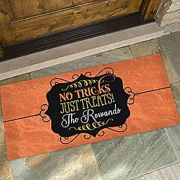 No Tricks, Just Treats Door Mat