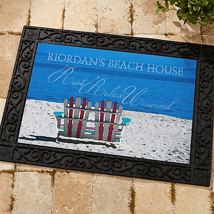 Alternate image 1 for Rest, Relax, and Unwind 18-Inch x 27-Inch Door Mat