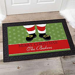 Santa Stop Here! 20-Inch x 35-Inch Door Mat