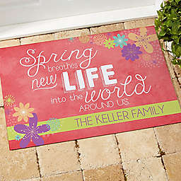 Spring Flowers Door Mat