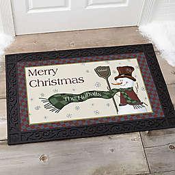 Let It Snow Snowman 20-Inch x 35-Inch Door Mat