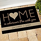 Home With You 18-Inch x 27-Inch Door Mat