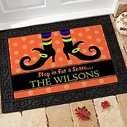 Stop In For A Scare Door Mat