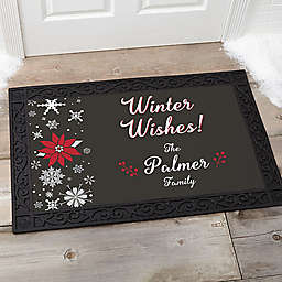 Wintertime Wishes 20-Inch x 35-Inch Door Mat
