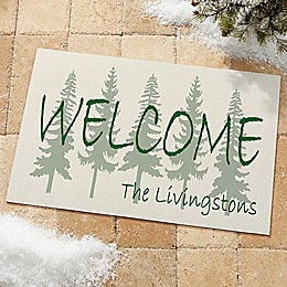 Evergreen Welcome Door Mat