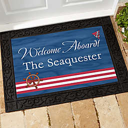 Welcome Aboard! Door Mat