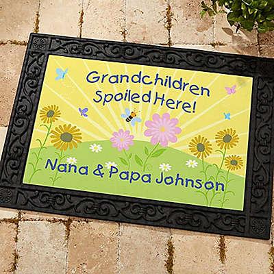 Spoiled Grandchildren Door Mat