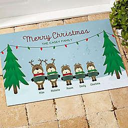 Reindeer Family Character Door Mat
