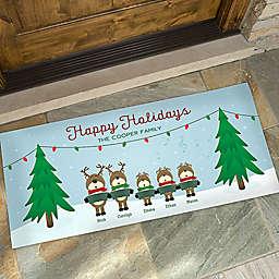Reindeer Family Character 24-Inch x 48-Inch Door Mat