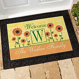 Summer Sunflowers Door Mat