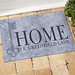 House Key Address Door Mat