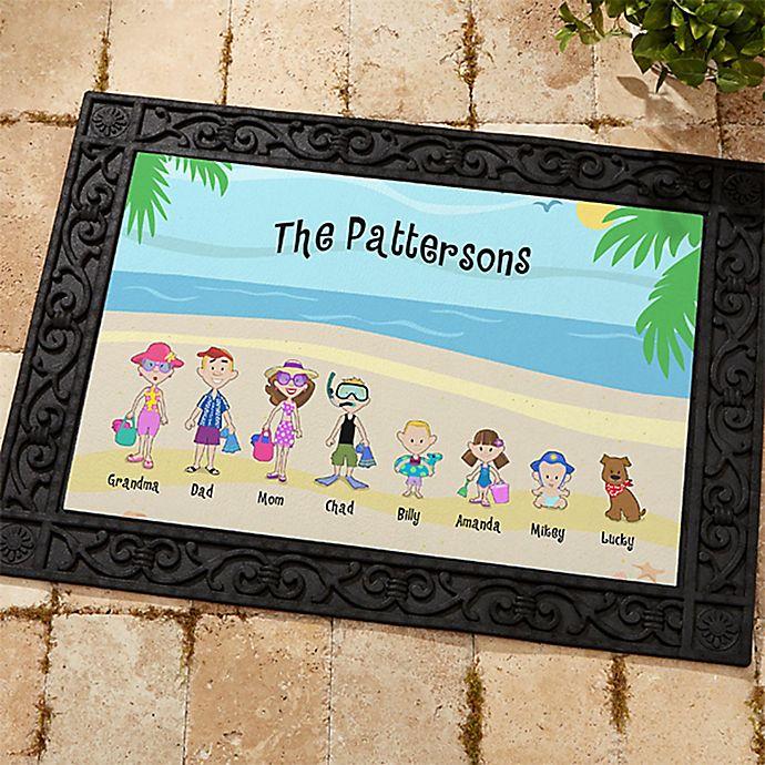 Alternate image 1 for Summer Family Character Door Mat