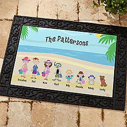Summer Family Character Door Mat