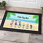 Summer Family Character 20-Inch x 35-Inch Door Mat