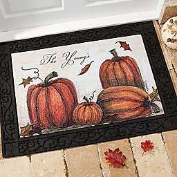 Autumn Pumpkin Patch Door Mat