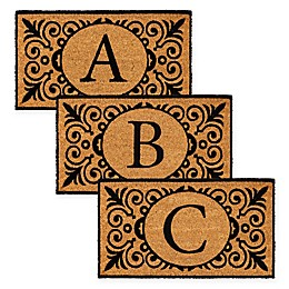 16-Inch x 24-Inch Monogram Letter Coir Door Mat Insert