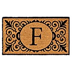 16-Inch x 24-Inch Monogram  F  Coir Door Mat Insert