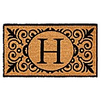 16-Inch x 24-Inch Monogram  H  Coir Door Mat Insert