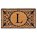 16-Inch x 24-Inch Monogram  L  Coir Door Mat Insert