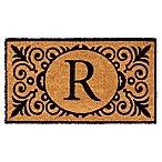 16-Inch x 24-Inch Monogram  R  Coir Door Mat Insert