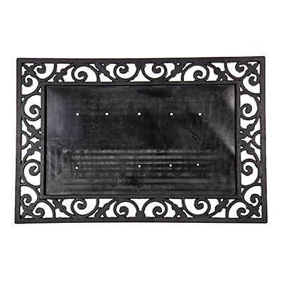24-Inch x 36-Inch Rubber Door Mat Frame in Black