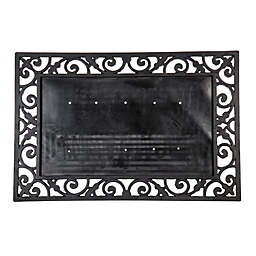24-Inch x 36-Inch Rubber Door Mat Frame in Black