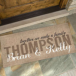 Together We Make A Family 24-Inch x 48-Inch Door Mat