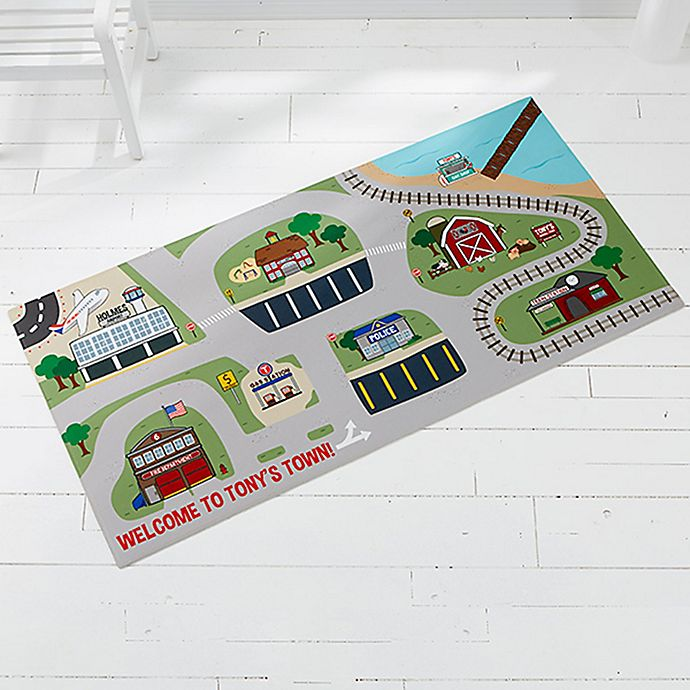 Alternate image 1 for Transportation Village 34-Inch x 48-Inch Play Mat