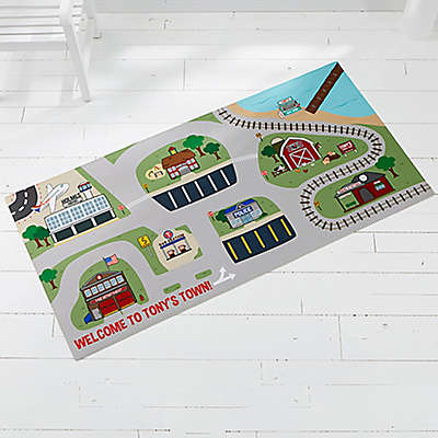 Transportation Village 34-Inch x 48-Inch Play Mat