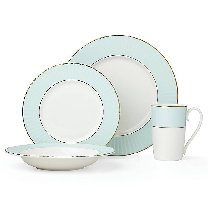 Alternate image 1 for Lenox® Pleated Colors Dinnerware Collection in Aqua