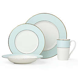 Lenox® Pleated Colors 4-Piece Place Setting in Aqua