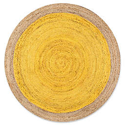 nuLOOM Eleonora 4-Foot Round Accent Rug in Yellow