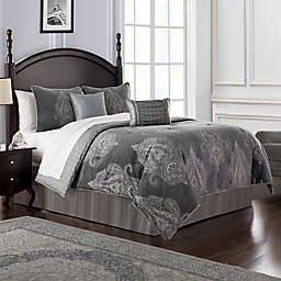 Waterford® Ryan Reversible King Comforter Set in Platinum
