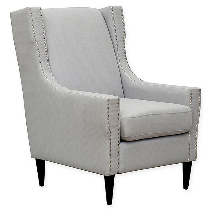Alternate image 1 for Chic Home Newton Linen Accent Chair in Light Grey