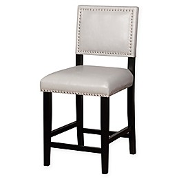 Linon Home Blake Vinyl Upholstered Stool