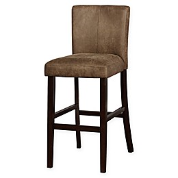 Linon Home Monroe Stool in Distressed Brown
