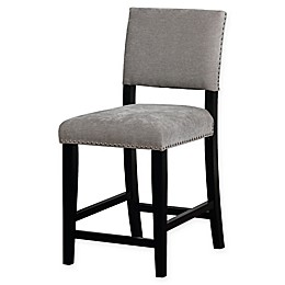 Linon Home Clayton Washed Velvet Stool