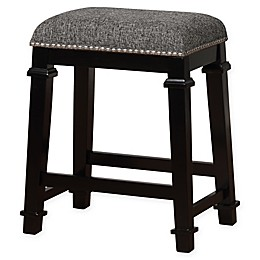Linon Home Kyley Tweed Upholstered Stool