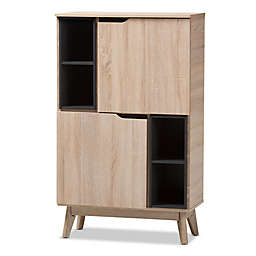 Baxton Studio Fella Multipurpose Storage Cabinet in Light Brown