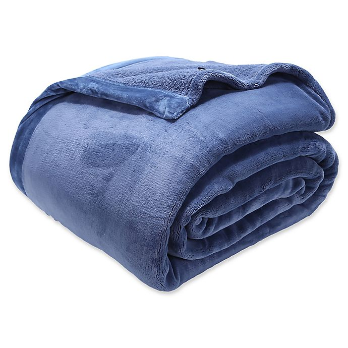 Alternate image 1 for Berkshire Blanket® Luxury PrimaLush™ Twin Blanket in Cadet Blue