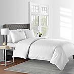 625-Thread-Count Dot King Duvet Cover Set in White