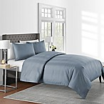625-Thread-Count Varigated Stripe Full/Queen Duvet Cover Set in Blue