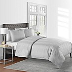 625-Thread-Count Varigated Stripe King Duvet Cover Set in Grey