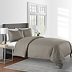 625-Thread-Count Pinstripe King Duvet Cover Set in Mink